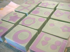 Embedded soap shapes add real interest