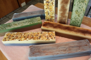 Handmade soap logs