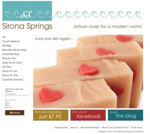 Sirona Springs website