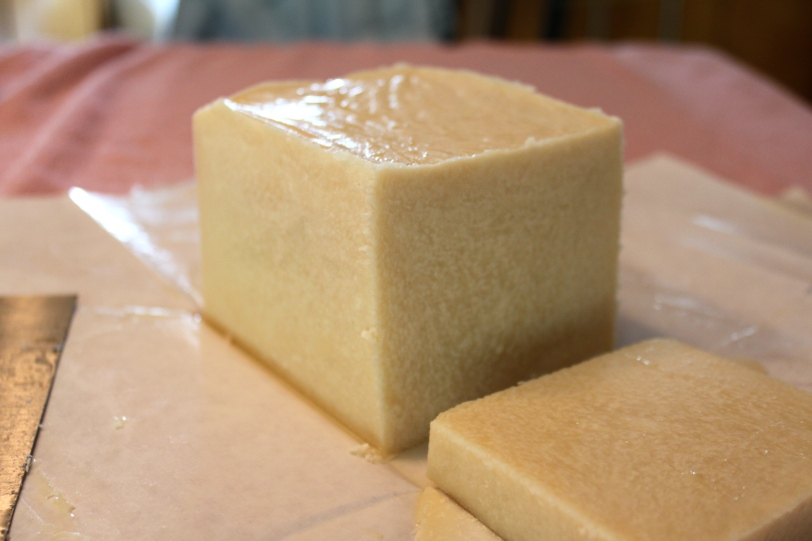 Separated soy milk soap