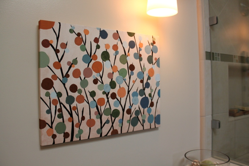 Modern flower painting
